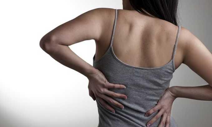 Совместное назначение показано болях в позвоночнике