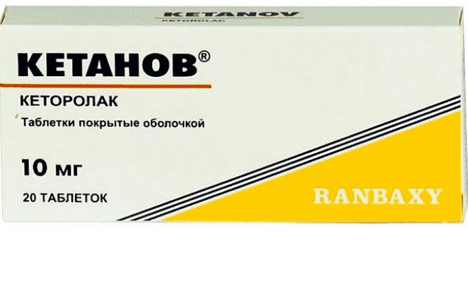 Кетанов используется при сильном болевом синдроме и высокой температуре