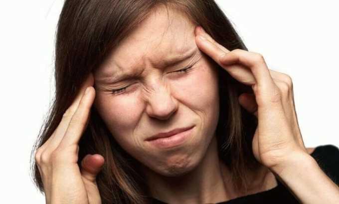 Возможно появление побочной реакции ввиде головний боли