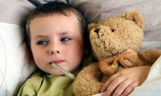 Детям препарат дается при лечении ОРВИ и гриппа