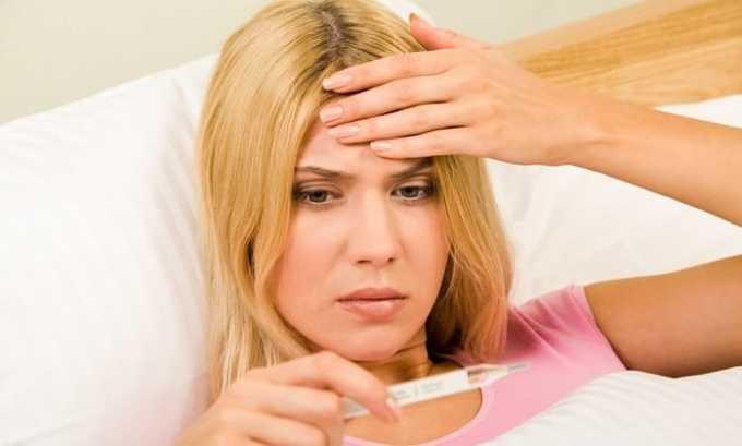 У человека, который страдает от цистита, повышается температура тела