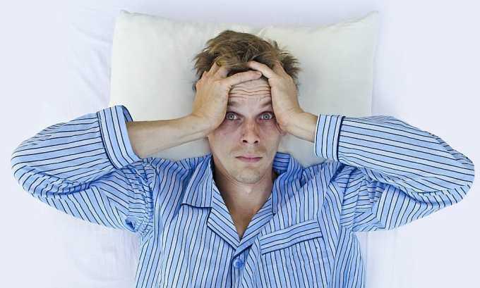 При использовании данного противомикробного средства может развиться нарушение сна