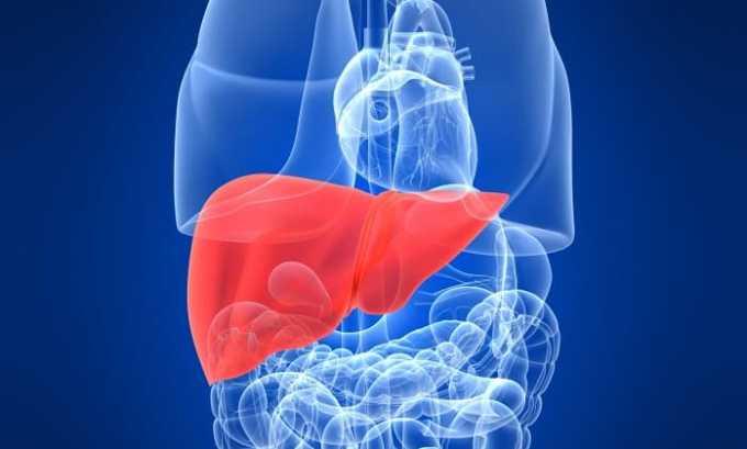 Компресс с Димексидом и Дексаметазоном противопоказан при заболеваниях печени