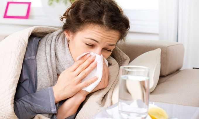 Препарат назначается при гриппе и ОРВИ