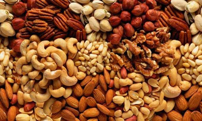Аминокислота содержится в таких источниках пищи, как орехи