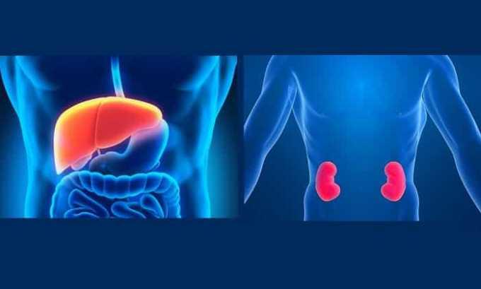 Лекарственное средство противопоказано при почечной или печеночной недостаточности