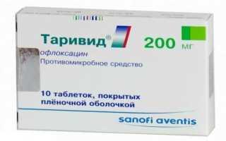 Результаты применения Таривид при инфекции мочевыводящих путей и почек