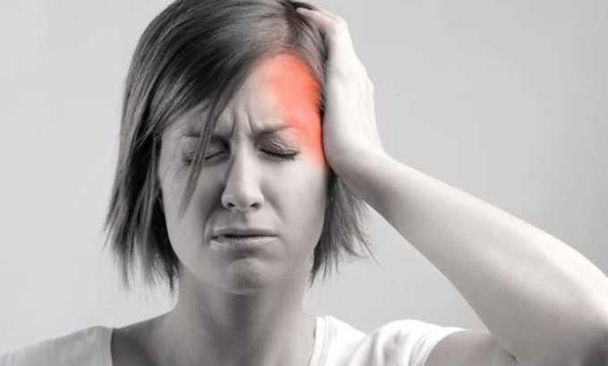 В некоторых случаях возникает побочная симптоматика в виде болей в голове