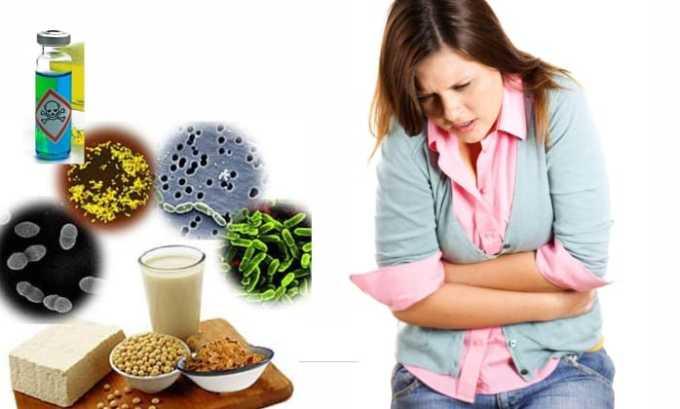 Лечение препаратом при попадании инфекции в органы пищеварительного тракта