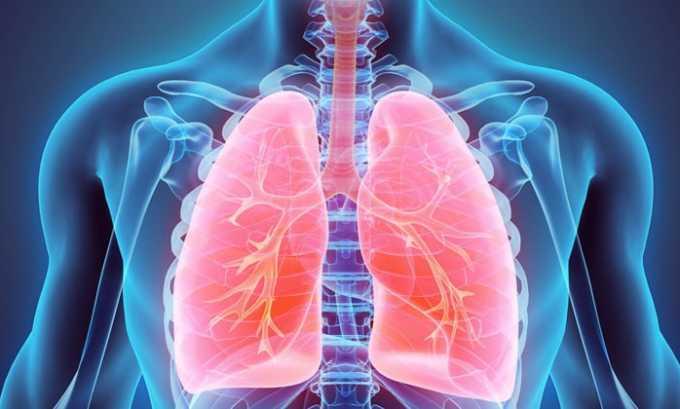 Препарат применяют при болезнях верхних дыхательных путей