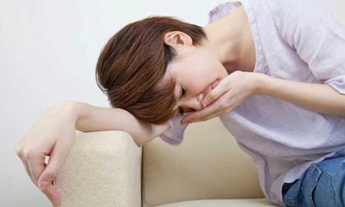 При передозировке препарата бывают тошнота, рвота