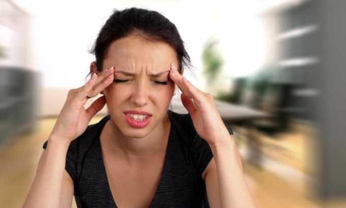 Главным побочным эффектом является головокружение и головная боль
