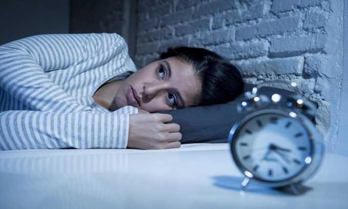 При чрезмерном употреблении добавки возникает нарушение сна