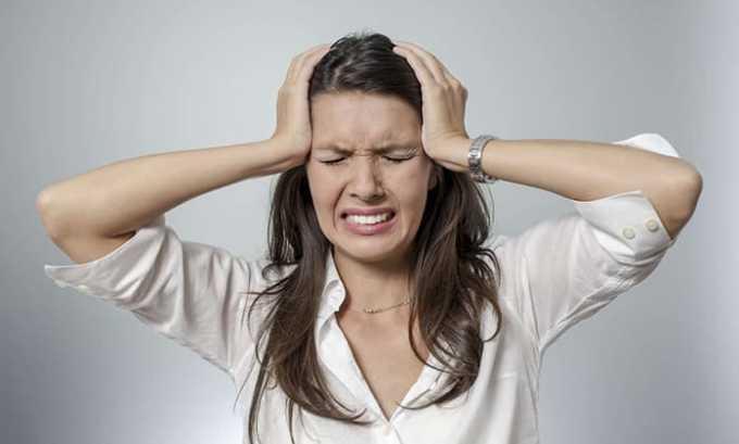 Во время употребления медикамента может развиться побочная симптоматика в виде головокружения и болей в голове