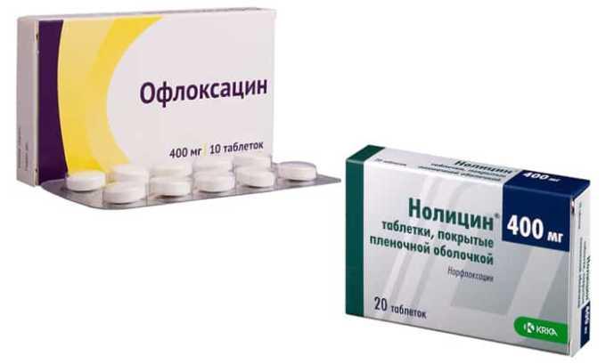 Офлоксацин, Нолицин - антибиотики из группы фторхинолонов с широким спектром действия