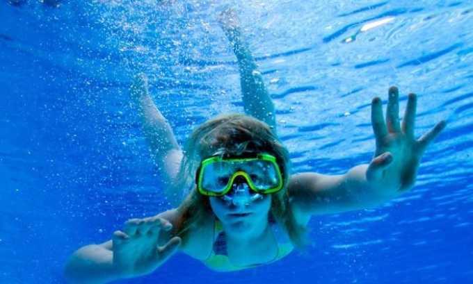 Не глотаайте воду во время плаванья