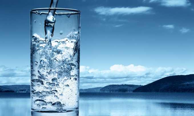 Необходимо придерживаться привычного питьевого режима