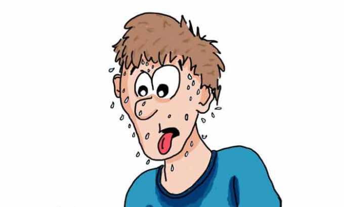 Препараты могут вызвать повышенное потоотделение