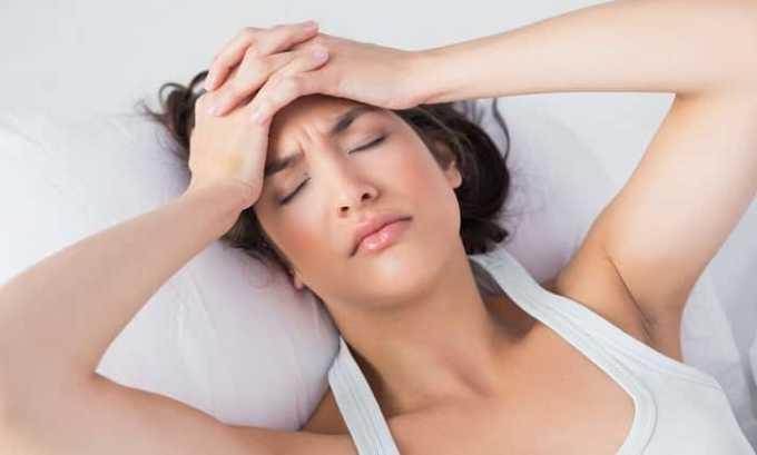 При применении лекарства могут возникнуть побочные реакции в виде головной боли