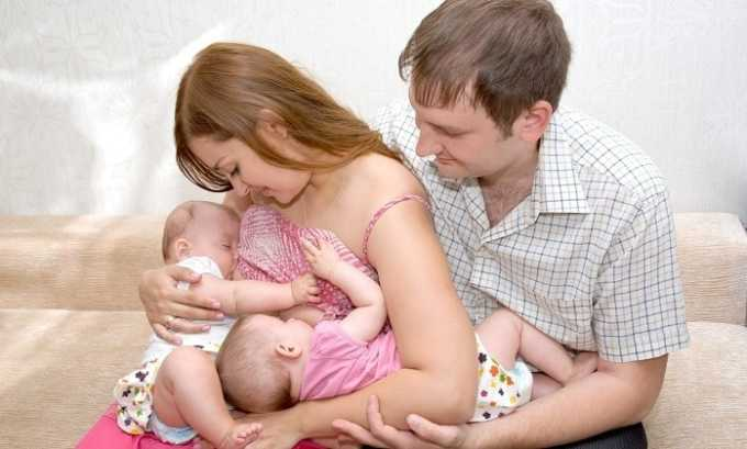 Компоненты могут выделяться с молоком у женщин, поэтому Димексид и Эуфиллин не применяются во время лактации