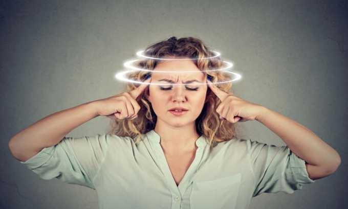 От лекарственных средств возможен побочный эффект в виде головокружения