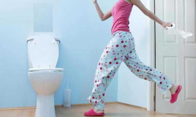 При применении лекарства могут возникнуть побочные реакции в виде диареи