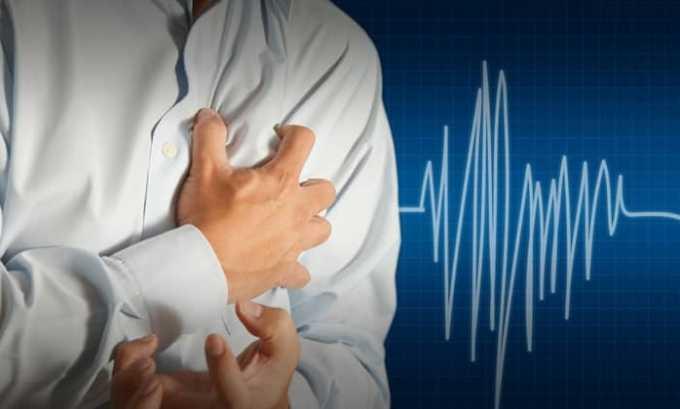Побочным действием может стать развитие стенокардических приступов