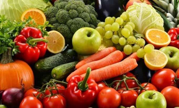 В диетическом меню при цистите должно быть больше овощей и фруктов