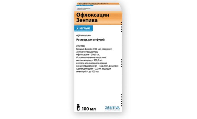 Офлоксацин Зентива по терапевтическому эффекту схож с препаратом Офлоксацин 400