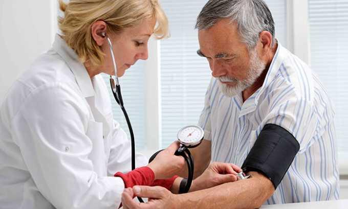Медикаментозное средство применяется в терапии гипертонической болезни (в комплексе с другими антигипертензивными лекарствами)