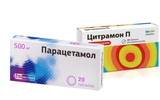 Можно ли принимать вместе Парацетамол и Цитрамон?