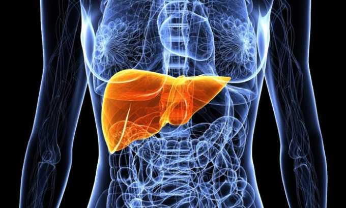 Метаболизм лекарства частично происходит в печени