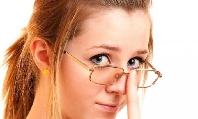 При увеличении дозы может нарушиться зрение