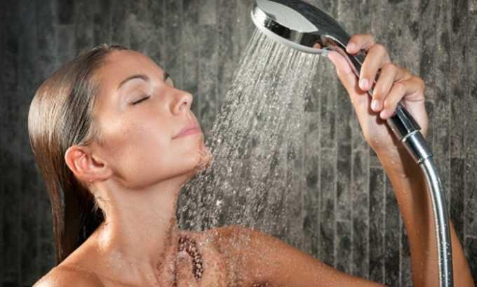 До и после купания в бассейне рекомендуется принимать душ