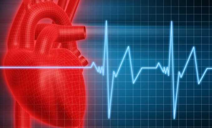 Рекомендуется применение препарата при хроническом заболевании сердца