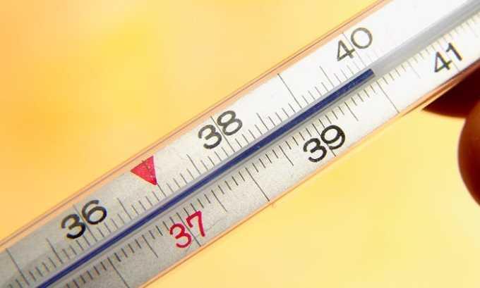 Побочным действием от препарата может быть повышение температуры