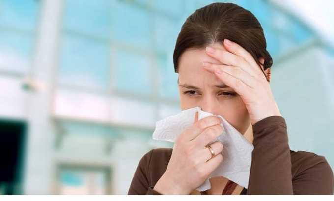 Препарат не применяется при аллергическом насморке