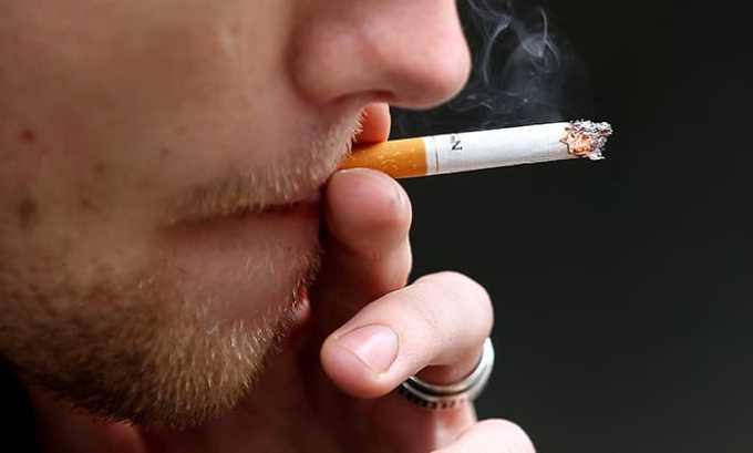 С осторожностью НПВС прописывается при курении