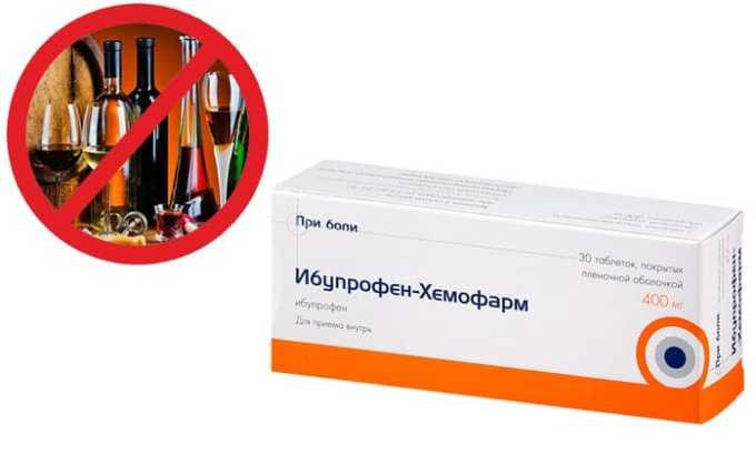 В период приема таблеток запрещается пить алкоголь