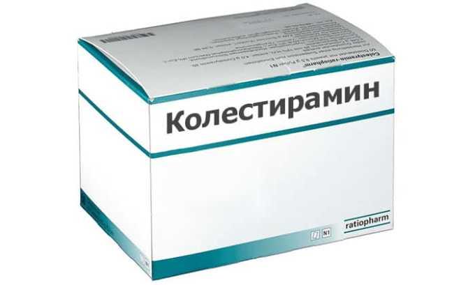 Иногда при применении Колестирамина в течение 1 часа после приема препарата уменьшает абсорбцию последнего