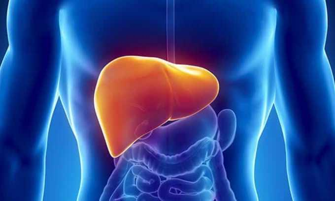 При наружном применении Левофлоксацин не влияет на функции внутренних органов, поэтому его можно использовать при заболеваниях печени