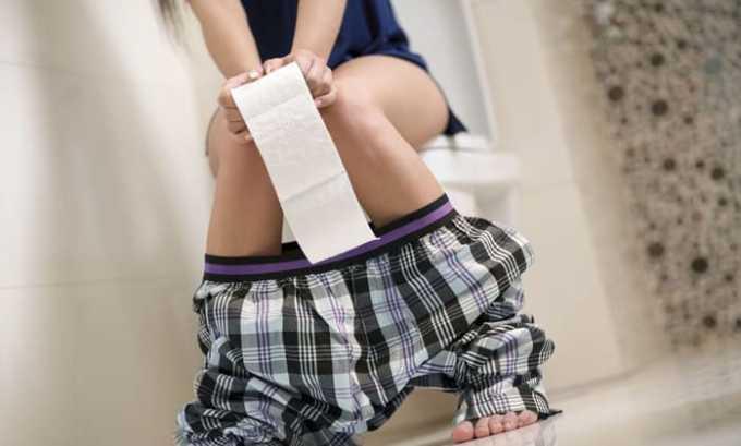 При превышении дозы препарата может появиться диарея