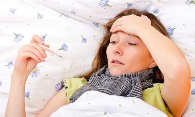 Препарат принимают при инфекционных заболеваниях, сопровождающихся повышением температуры