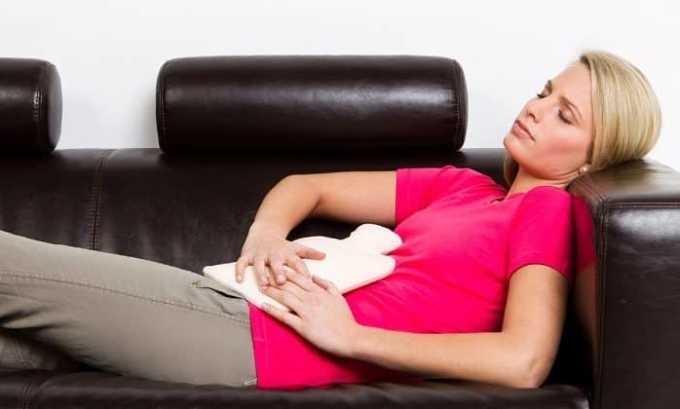 Препарат применяется при схваткообразных болях во время менструации