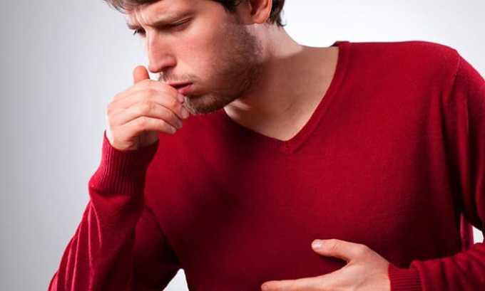 При кашле пациент испытывает сильную боль в области горла, чтобы устранить дискомфорт, можно принимать лекарственное средство по 1 таблетки на ночь