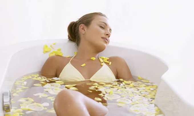 При лечении данных заболеваний, ванны оказывают лечебный эффект