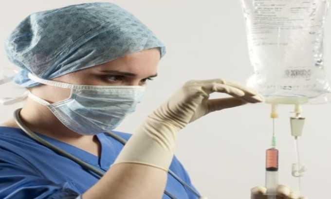 Лекарственное средство применяется внутривенно капельно