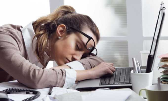 Во время лечебного курса может проявиться сонливость