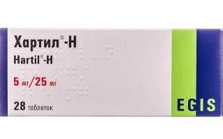 Действие препарата Хартил при заболевании почек