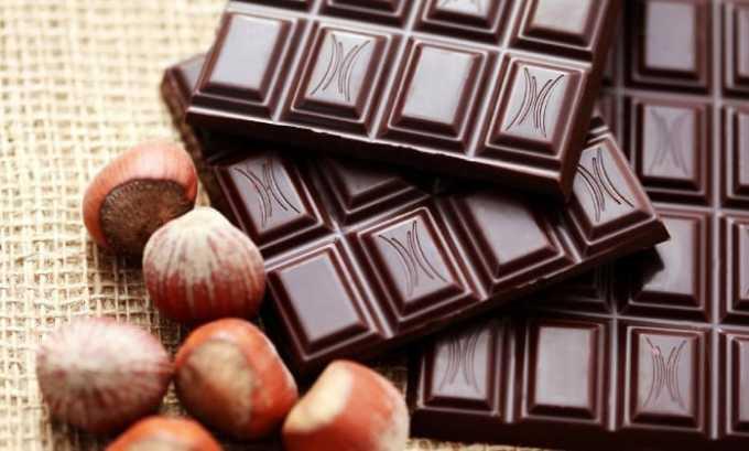 Воздержитесь от употребления плиточного шоколада, особенно черного